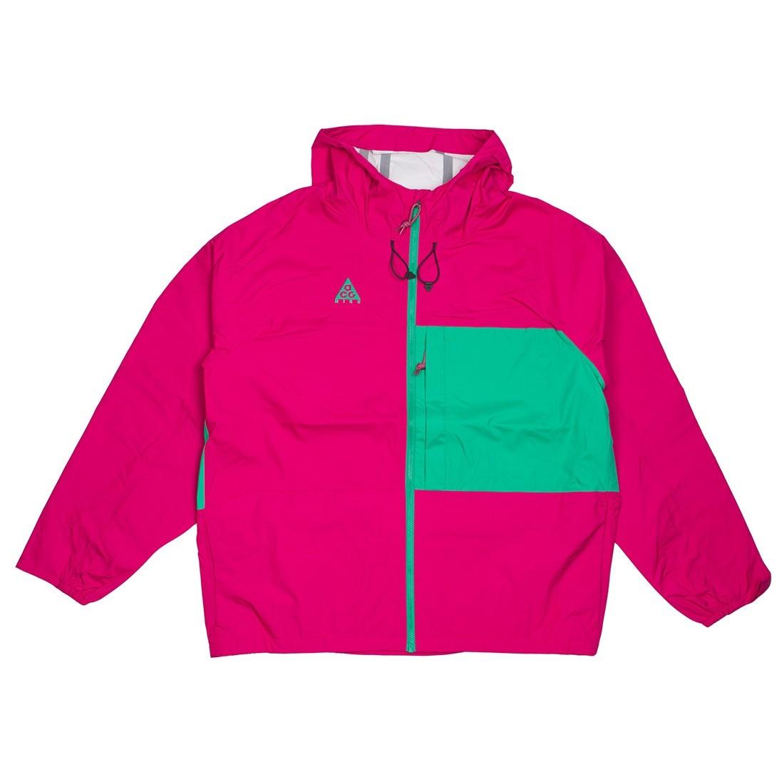Nike Men Nrg Acg 2.5L Packable Jacket (sport fuchsia / lucid green)