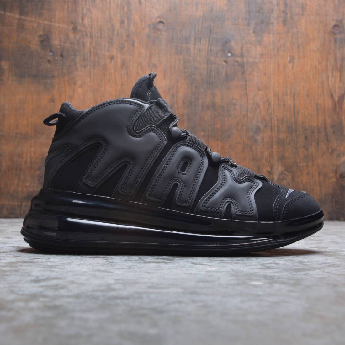 the best attitude 8bd09 adeec nike men air more uptempo 720 qs black metallic black black