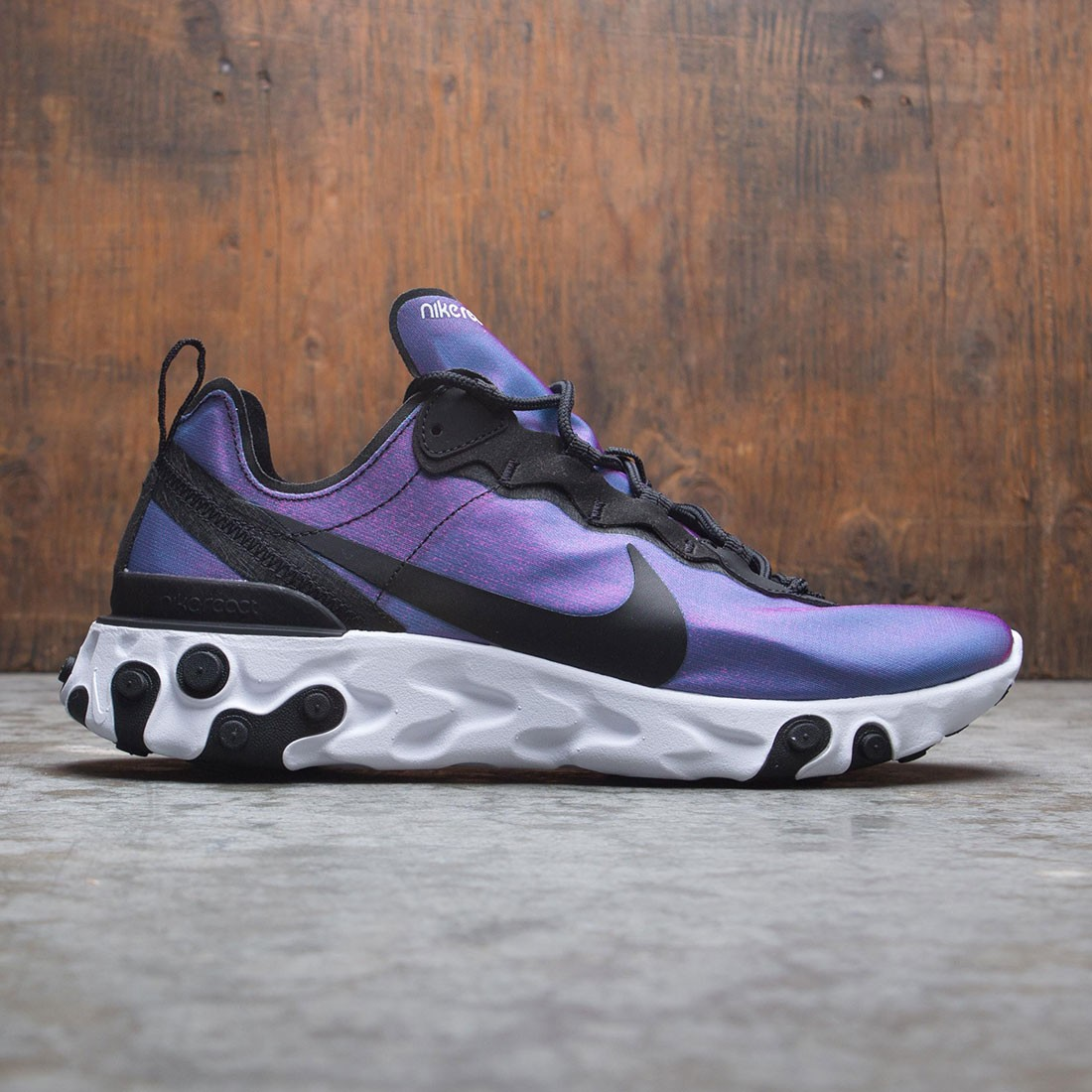 best authentic e21c1 8f3ca nike men react element 55 premium black black laser fuchsia white