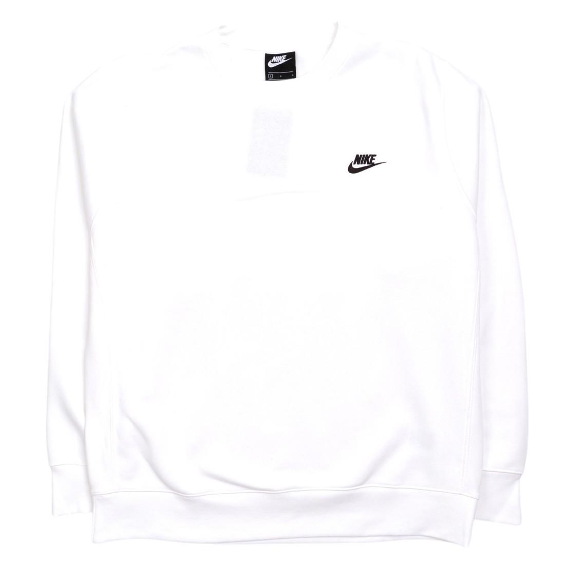Nike Men Sportswear Club Fleece Long Sleeves Tee (white / black)