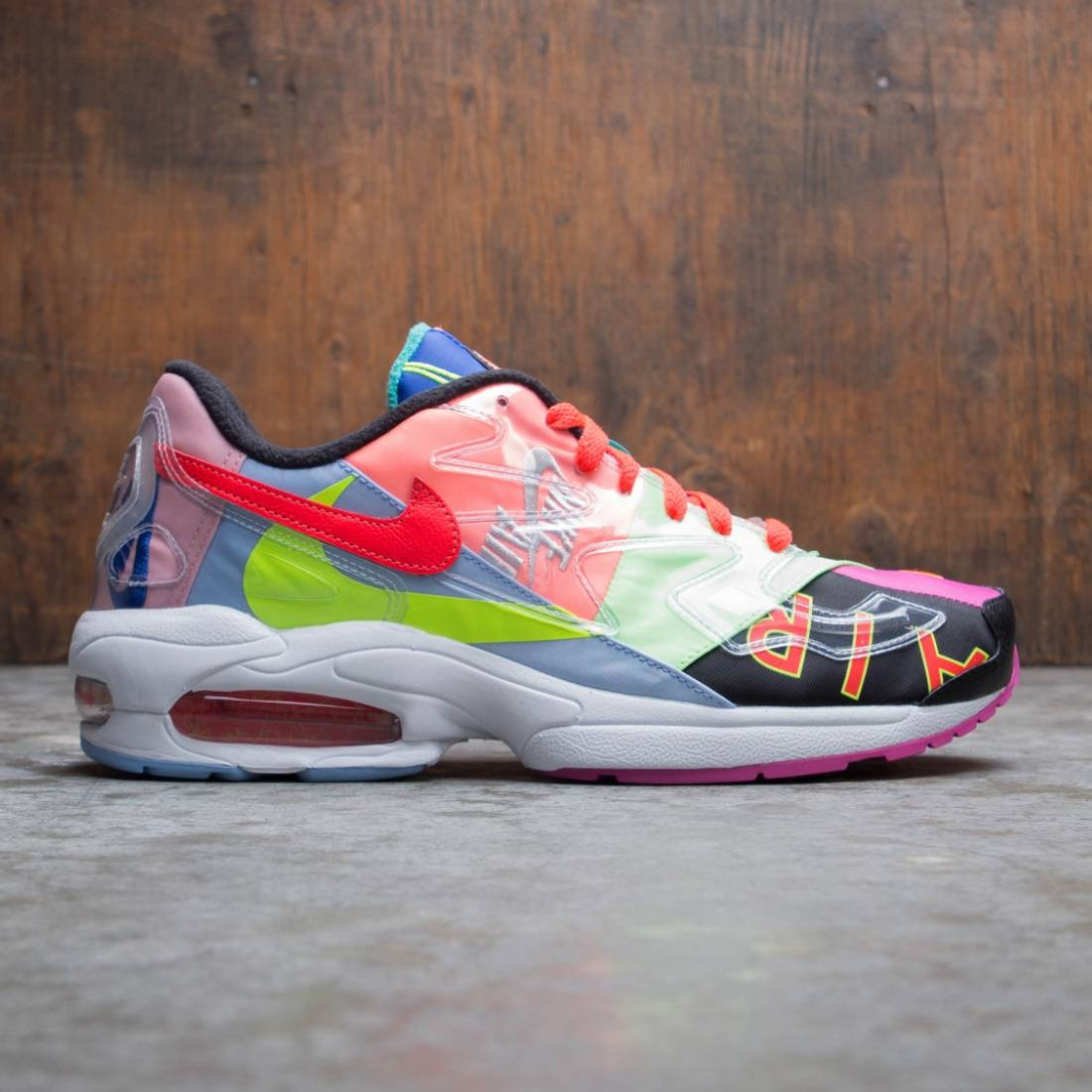 Nike x Atmos Men Air Max2 Light Qs (black / bright crimson)