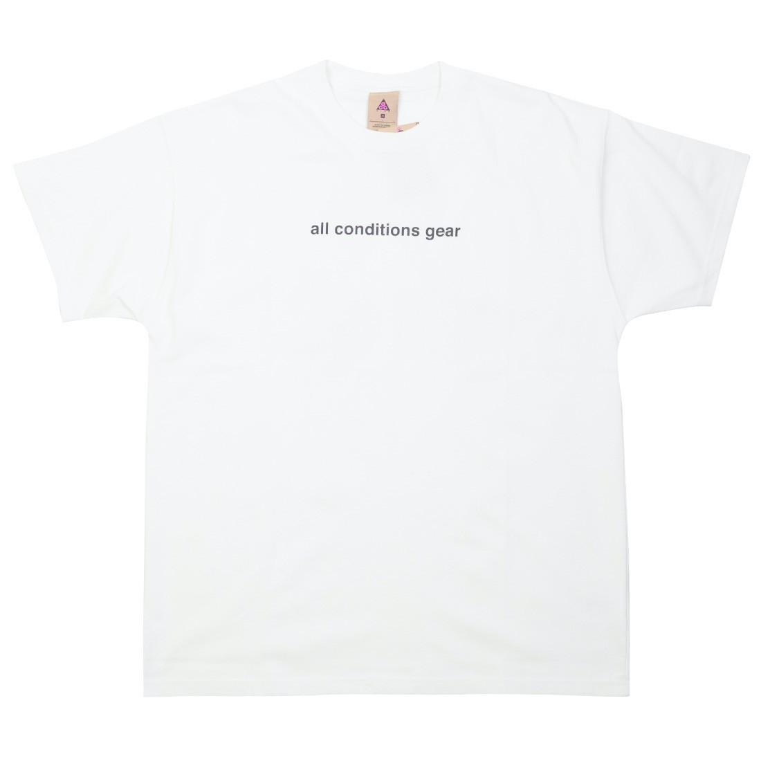 Nike Men Nrg Acg Gx 3D Logo Tee (summit white / black)