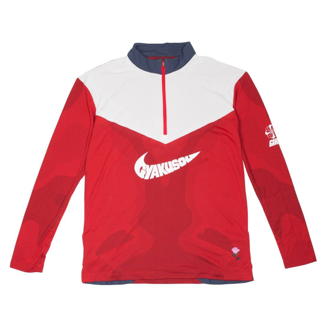 Nike Men Nrg Na Top Long Sleeves Tee Hz - Gyakusou (sport red / thunder blue / sail)