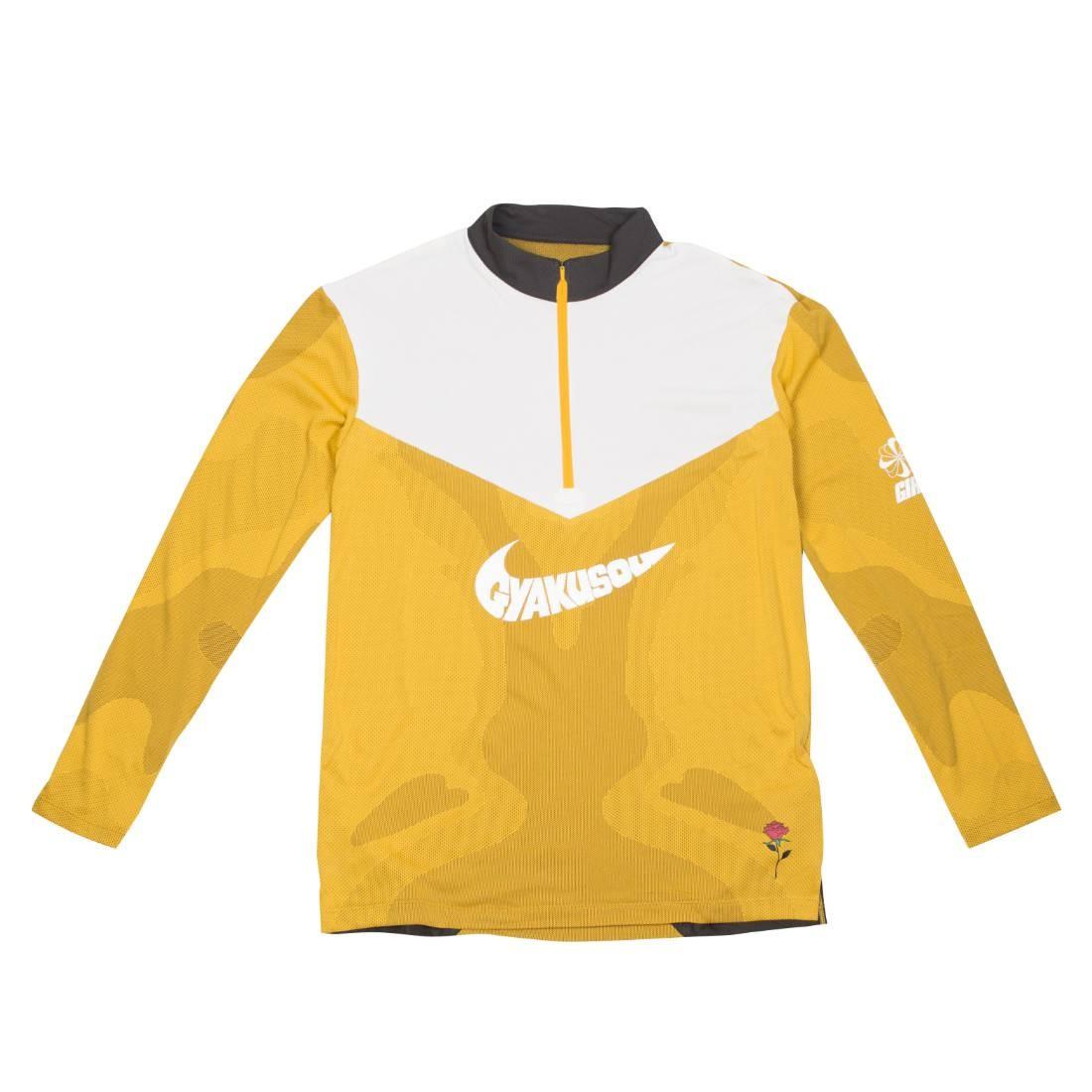 Nike Men Nrg Na Top Long Sleeves Tee Hz - Gyakusou (mineral yellow / deep pewter / sail)