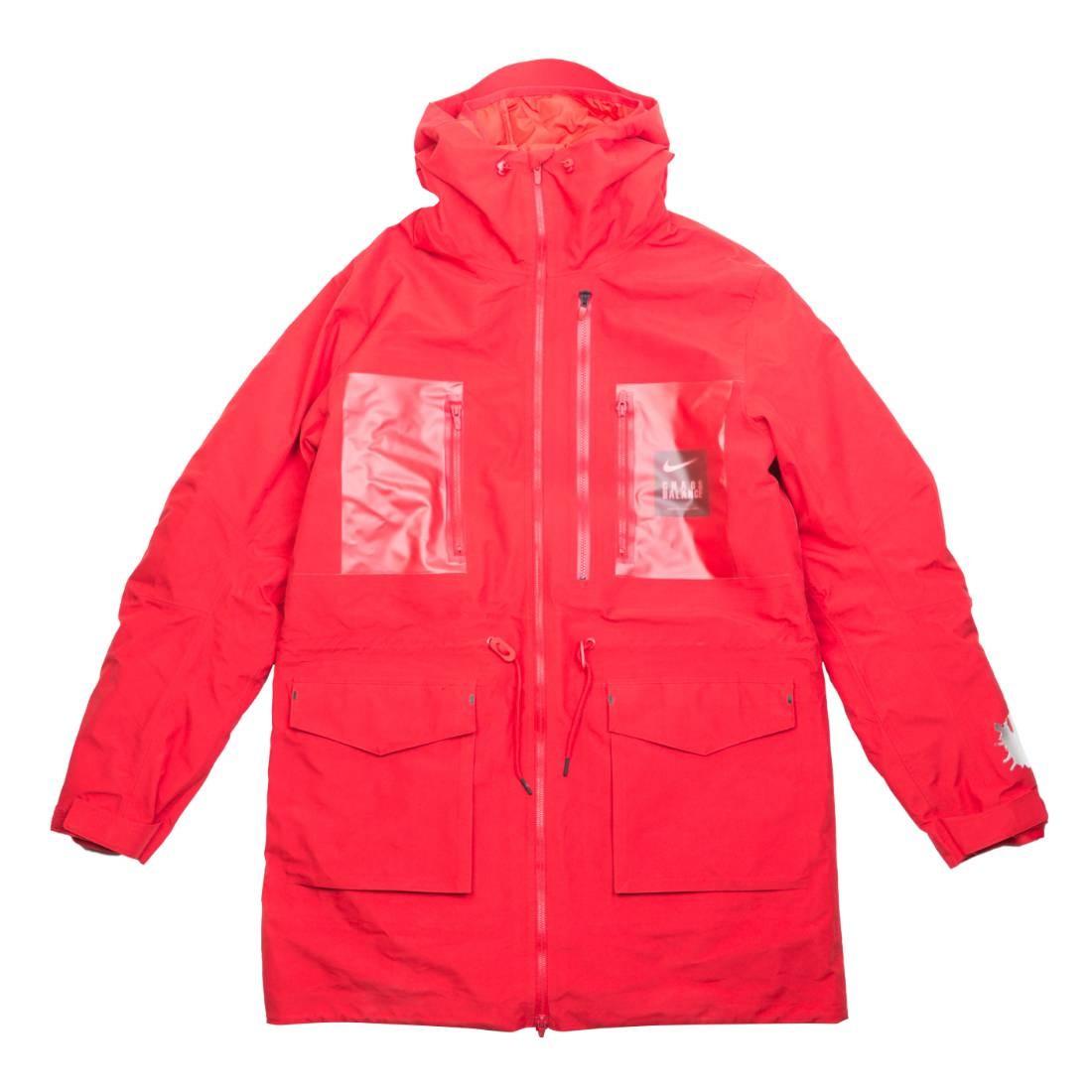 Nike Men M Nrg Tc Parka Fish Tail 3L Hooded Jacket (sport red / white)