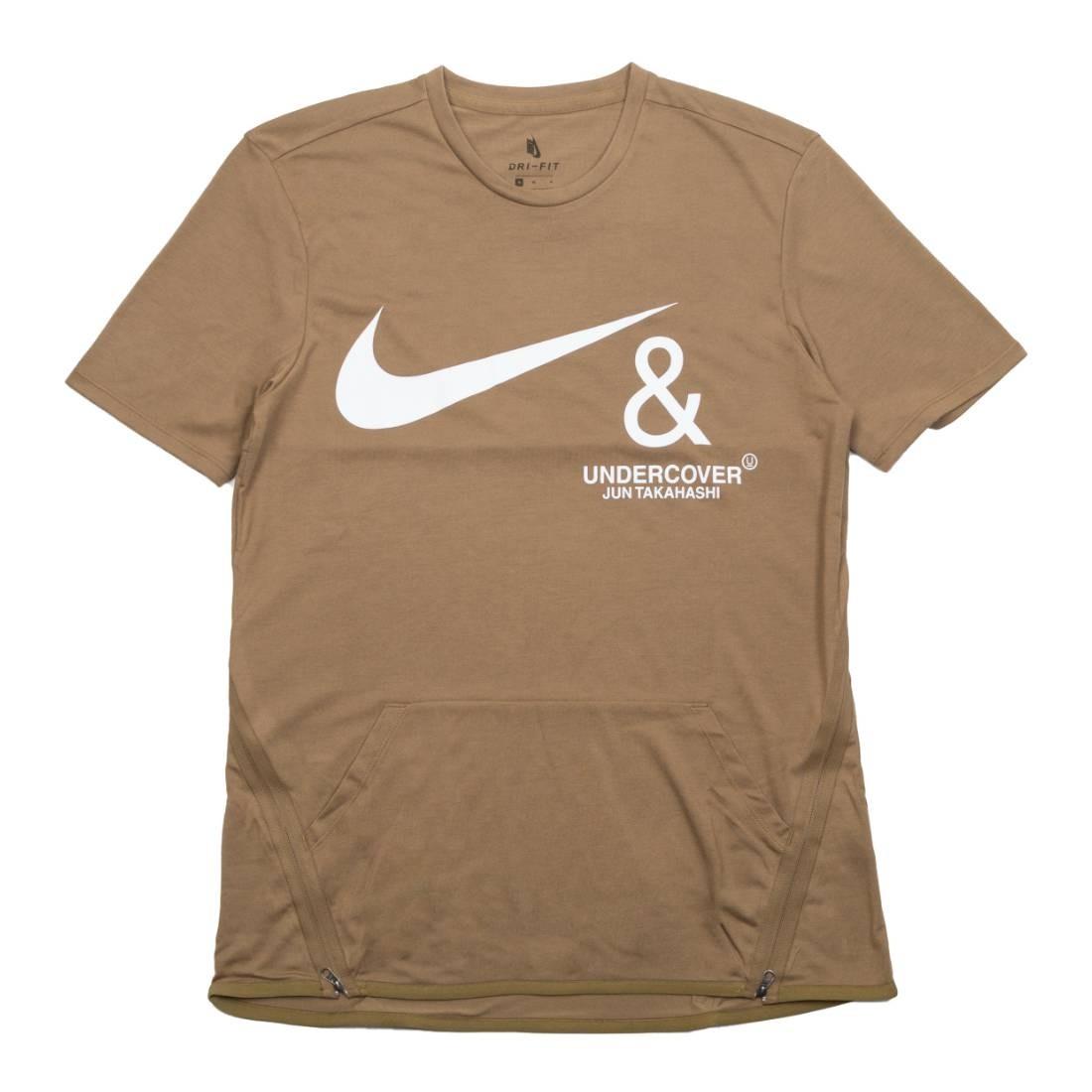 Nike Men M Nrg Tc Top Ss Pocket Tee (lichen brown / white)