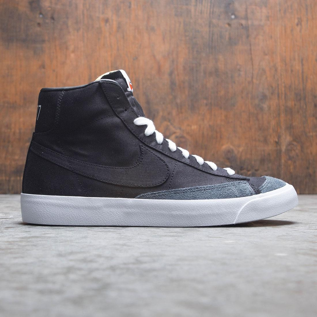 los angeles 08222 10a1f Nike Men Blazer Mid '77 Vintage We (black / black-black-white)
