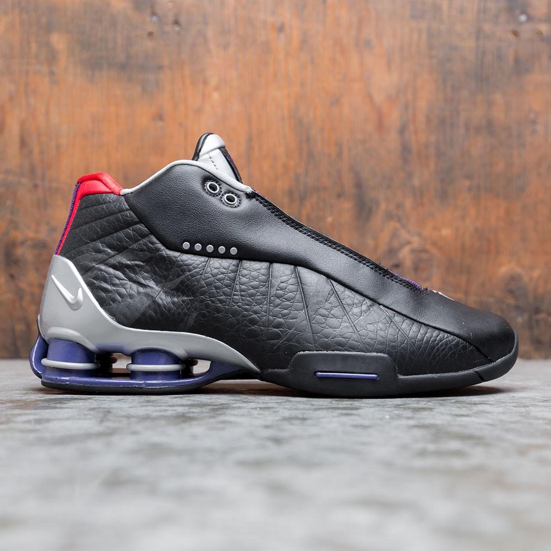 nike men shox bb4 black court purple
