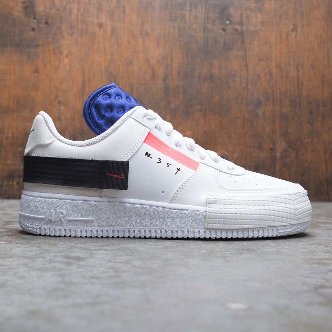 Nike Men Air Force 1 Type (summit white red orbit white black)