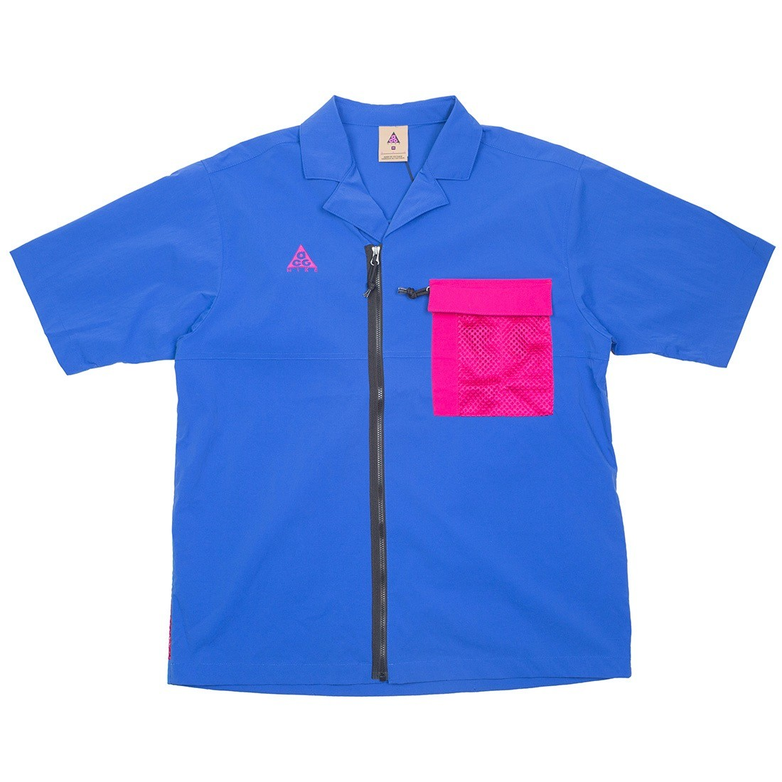 Nike Men Nrg Acg Top Short Sleeve Shirt (game royal / sport fuchsia)