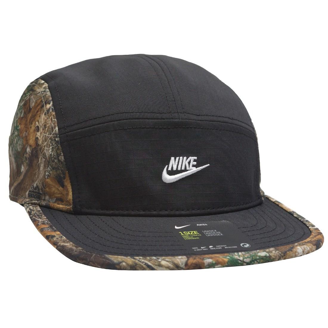 Nike Men Nrg Sportswear Aw84 Rlt Realtree Adjustable Cap (black / white)