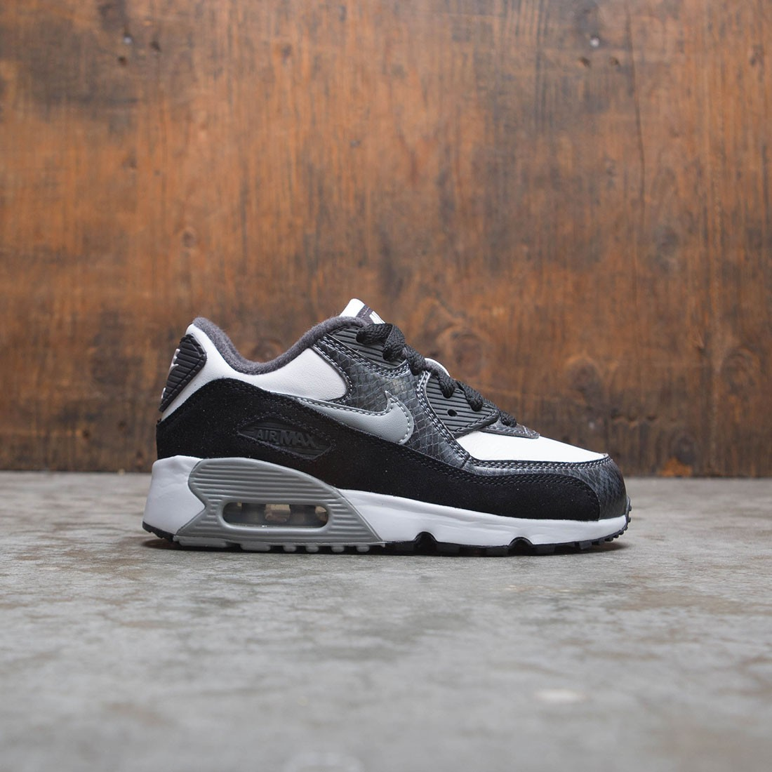 db85ad08e36f5 nike little kids air max 90 qs white particle grey anthracite