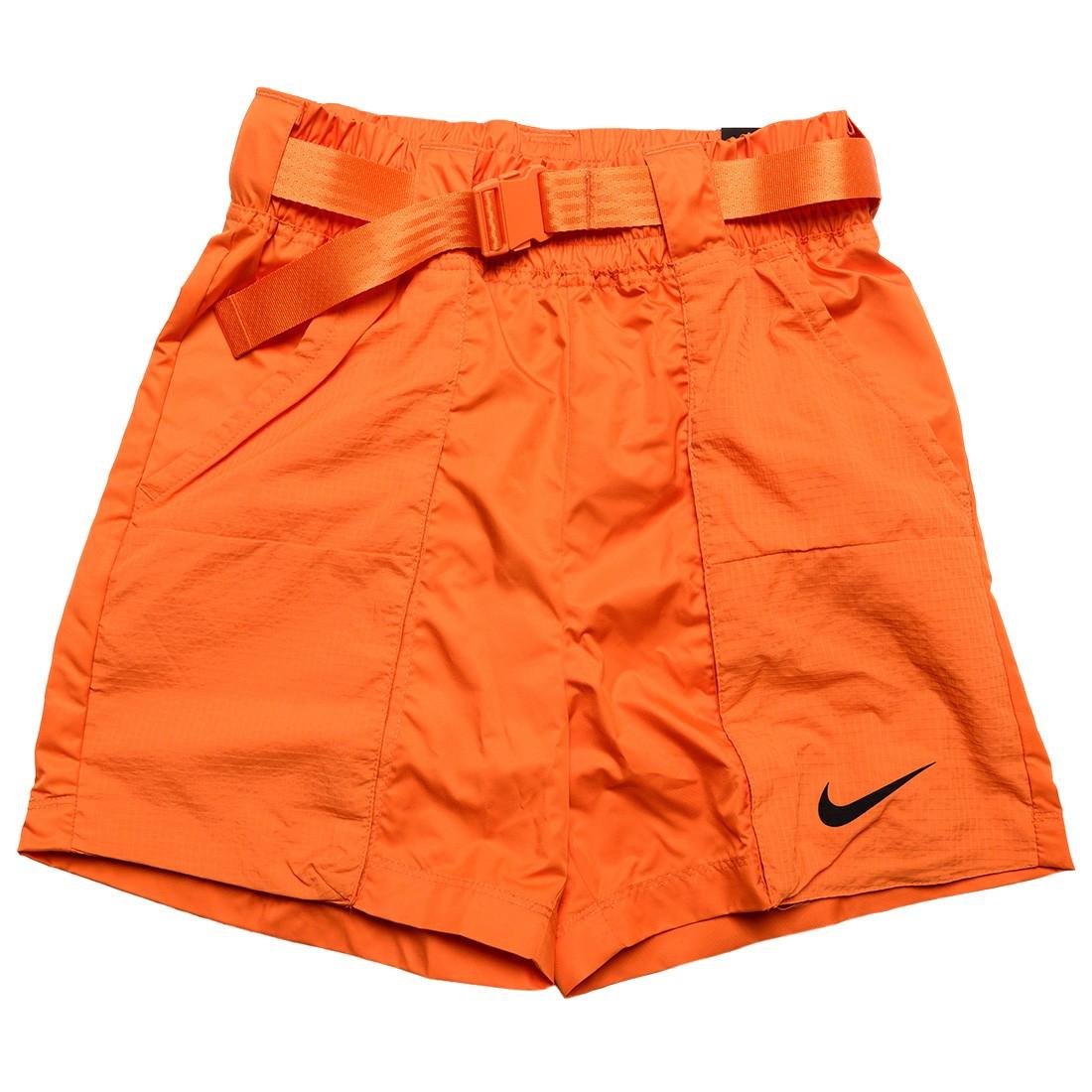 Nike Women Sportswear Swoosh Woven Shorts (alpha orange / black)