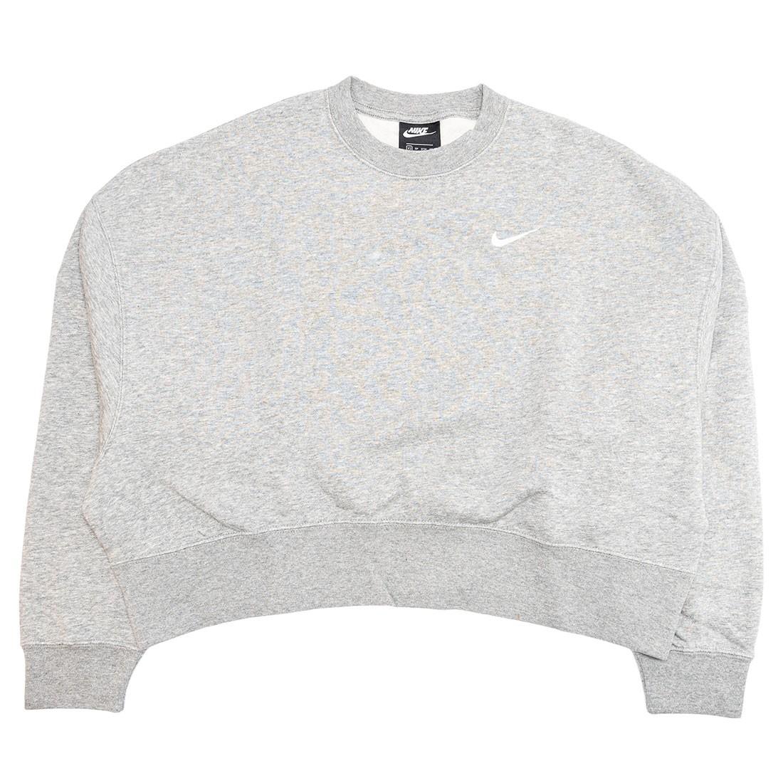 Nike Women Sportswear Essential Crewneck (dk grey heather / white)