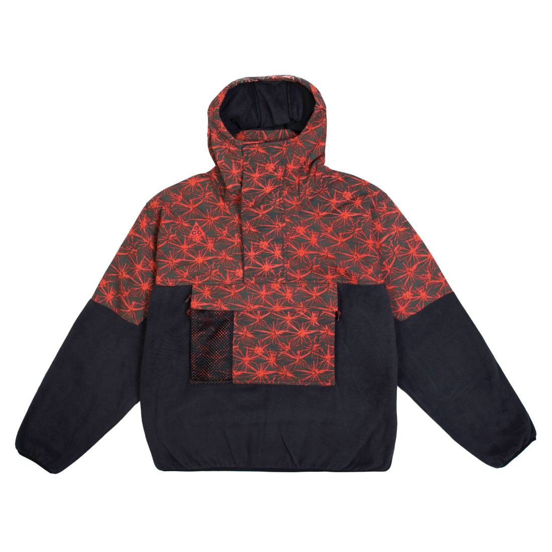 Nike Men Nrg Acg Aop Lightweight Fleece Jacket (black / rush red)