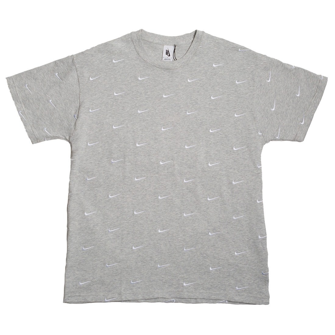 Nike Men Nrg Swoosh Logo Tee (grey heather)