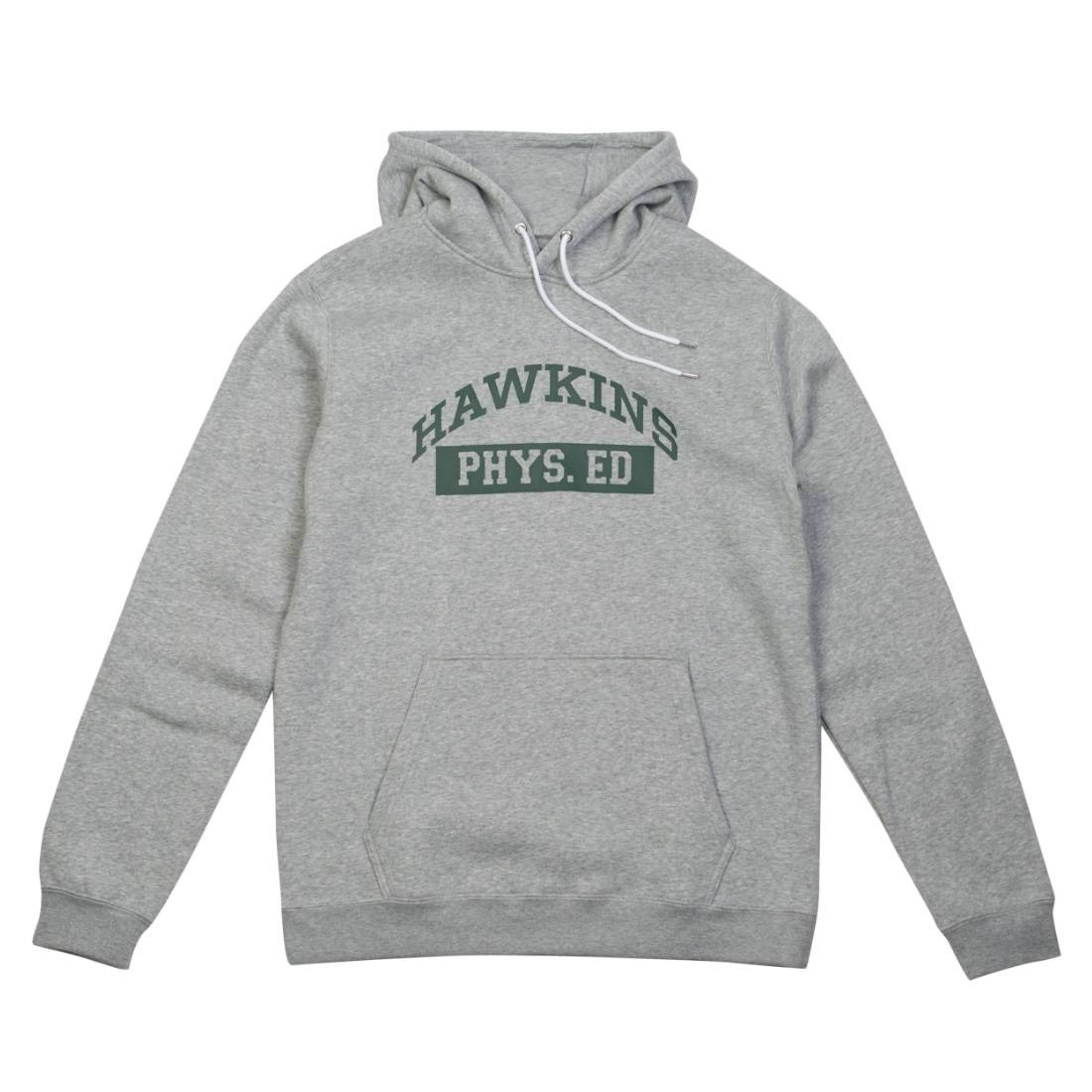 Nike x Stranger Things Men Hawkins High Pullover Hoody (dk grey heather / white / fir)