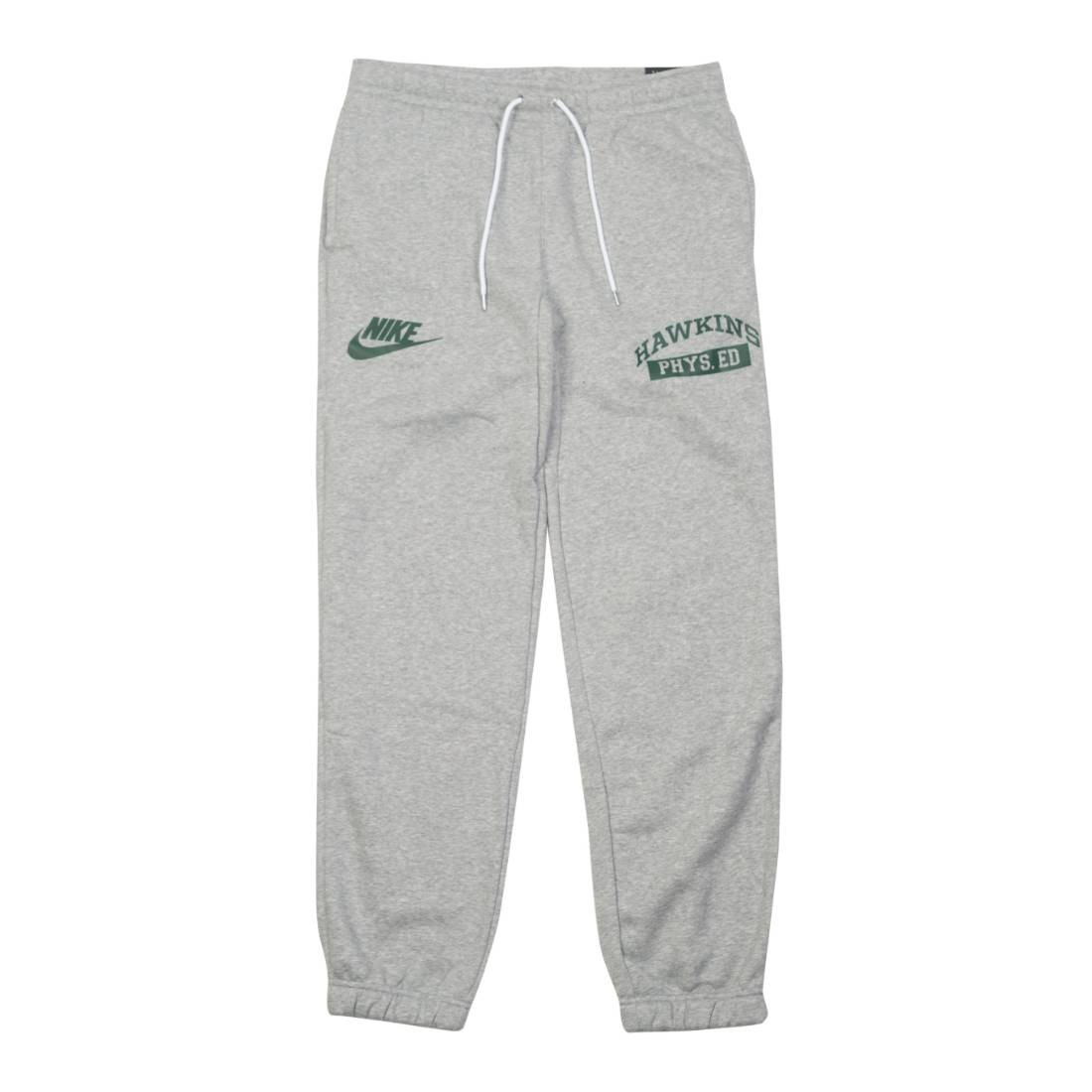 Nike x Stranger Things Men Hawkins High Pants (dk grey heather / white / fir)