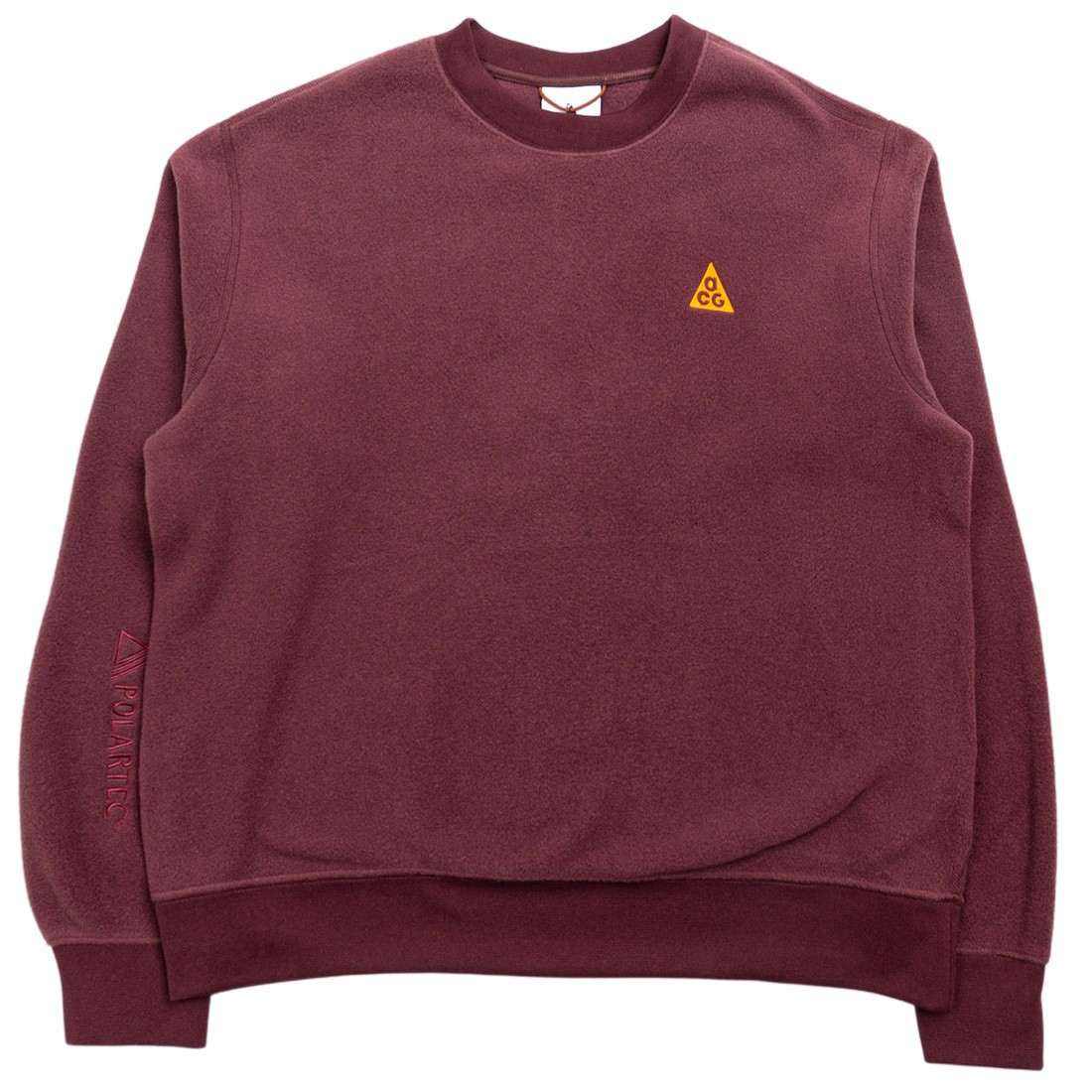 Nike Women W Nrg Acg Polar Crewneck (deep burgundy / clay orange / clay orange)