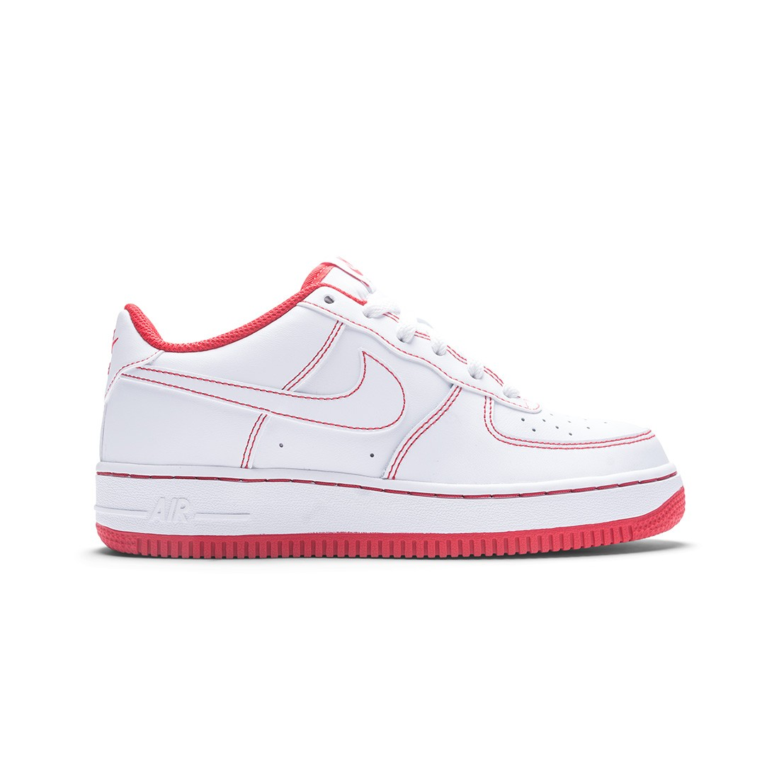 Nike Big Kids Air Force 1 (white / white-university red)