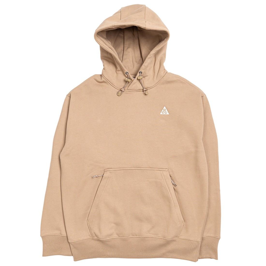 Nike Men Acg Pullover Fleece Hoody (khaki / summit white)