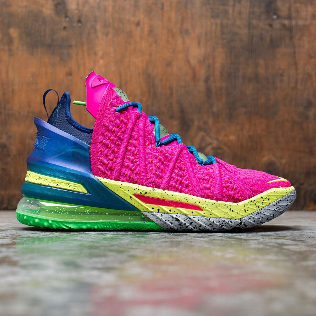 Nike Men Lebron 18 (pink prime / multi-color-blue void)