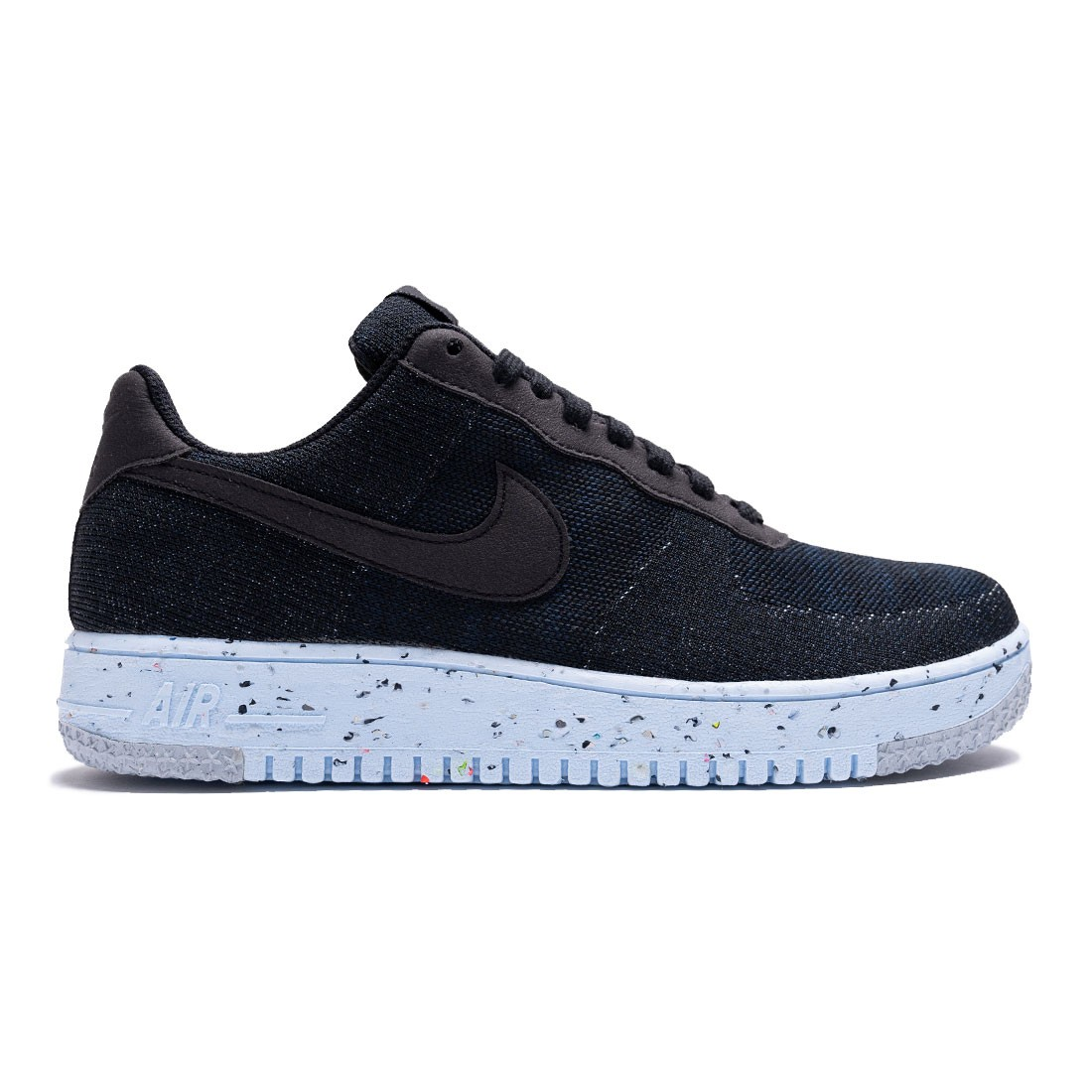 Nike Men Air Force 1 Crater Flyknit (black / black-chambray blue)