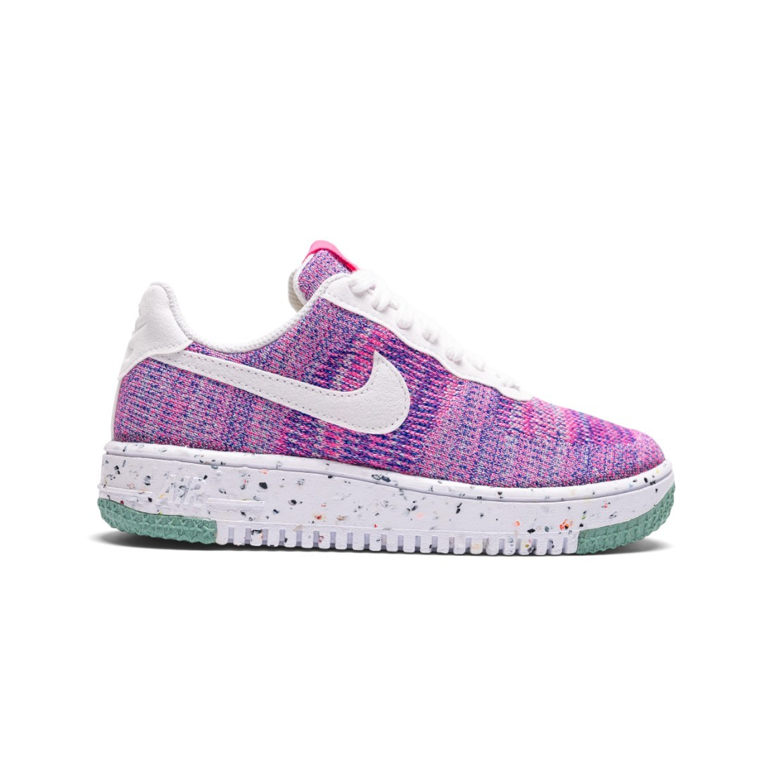 Nike Women Air Force 1 Crater Flyknit (fuchsia glow / white-pink blast-green glow)