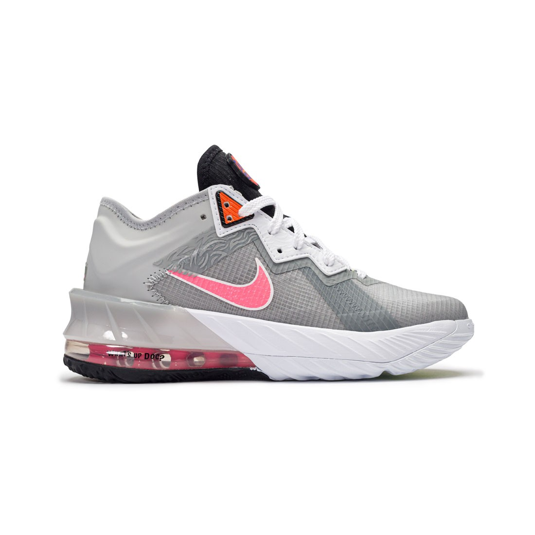 Nike Big Kids Lebron Xviii Low (Gs) (lt smoke grey / sunset pulse-black-white)