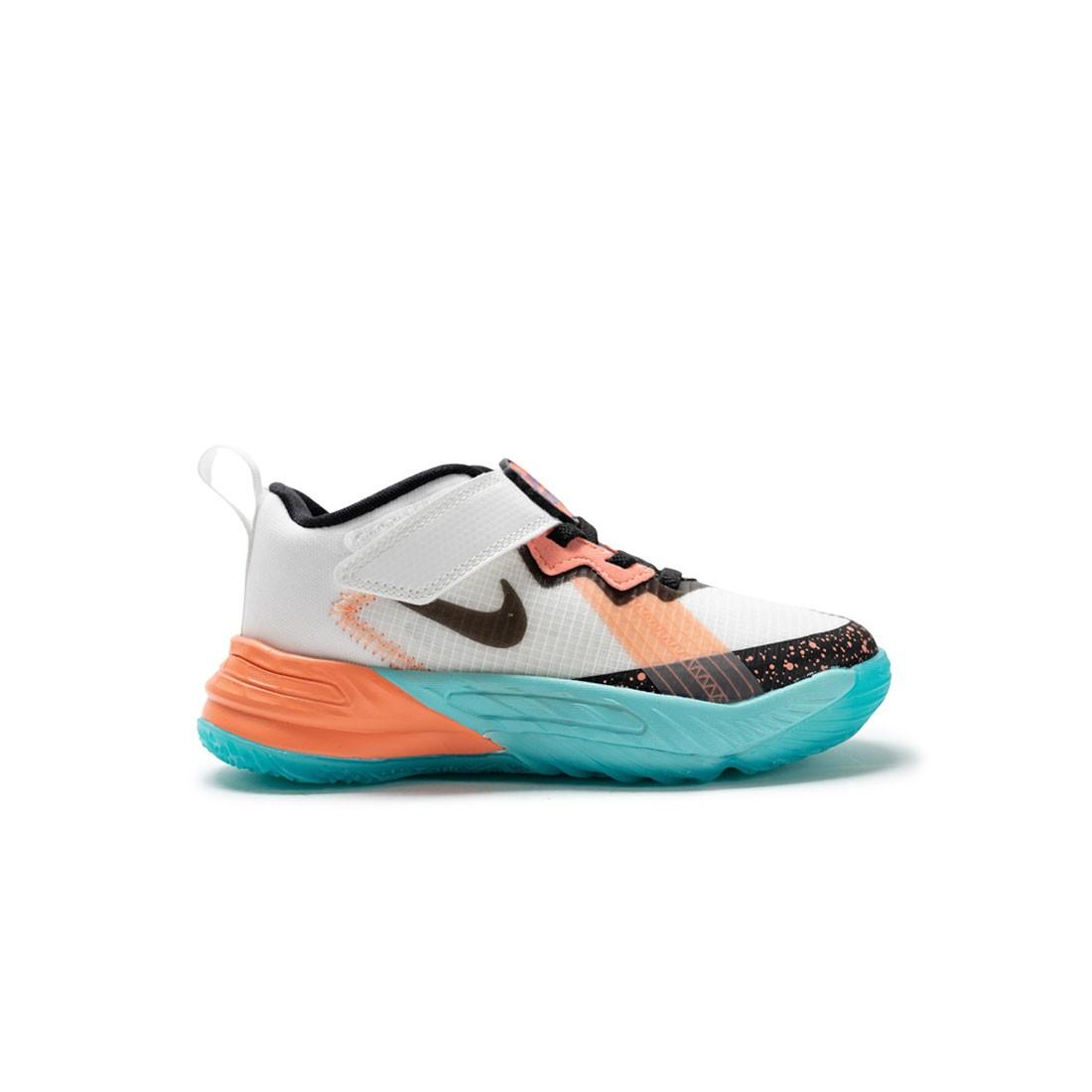 Nike Little Kids Lebron 18 Low (summit white / black-dynamic turq)