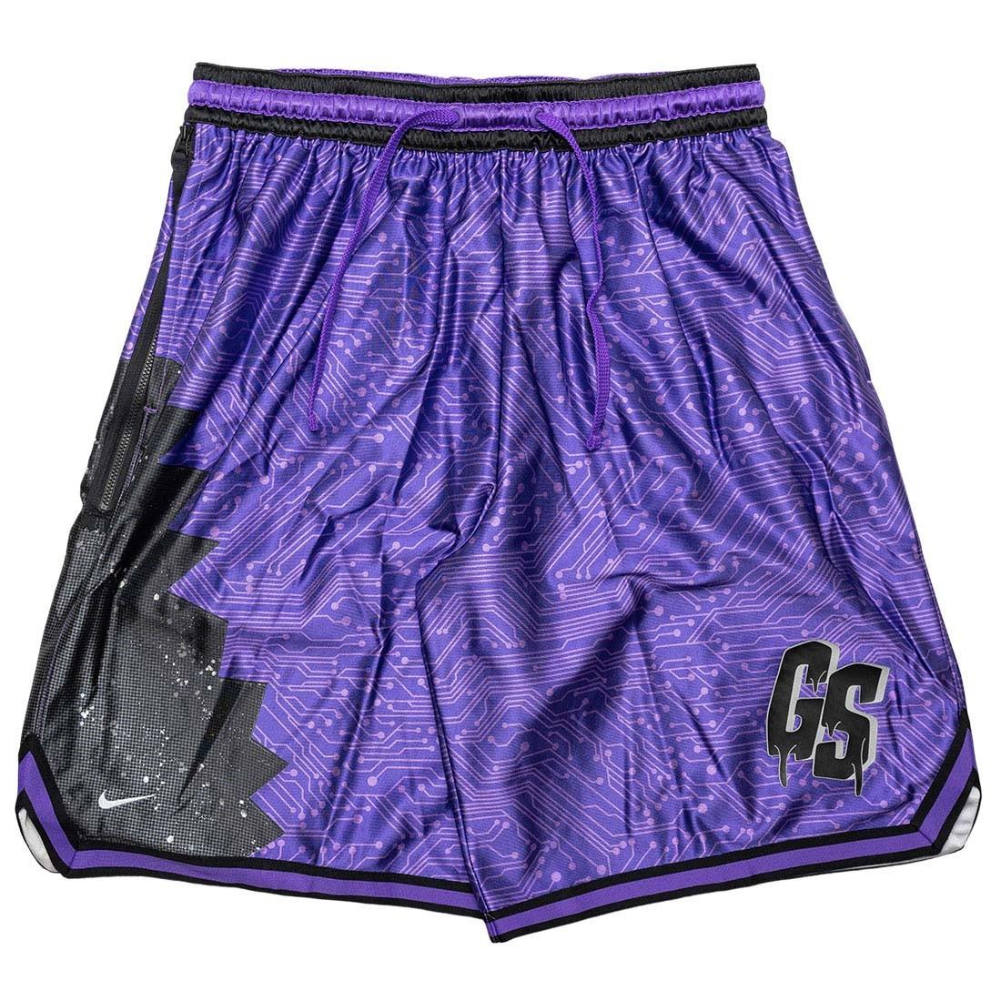 Nike Men Lebron X Space Jam: A New Legacy Goon Squad Shorts (hyper grape / black / wolf grey)