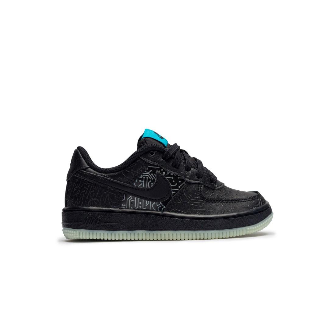 Nike Little Kids Force 1 (Ps) (black / black-lt blue fury)