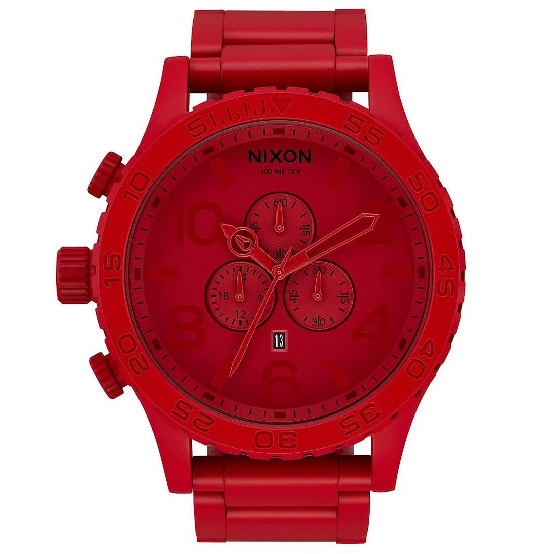 Nixon 51-30 Chrono Watch - RED (red / all red)