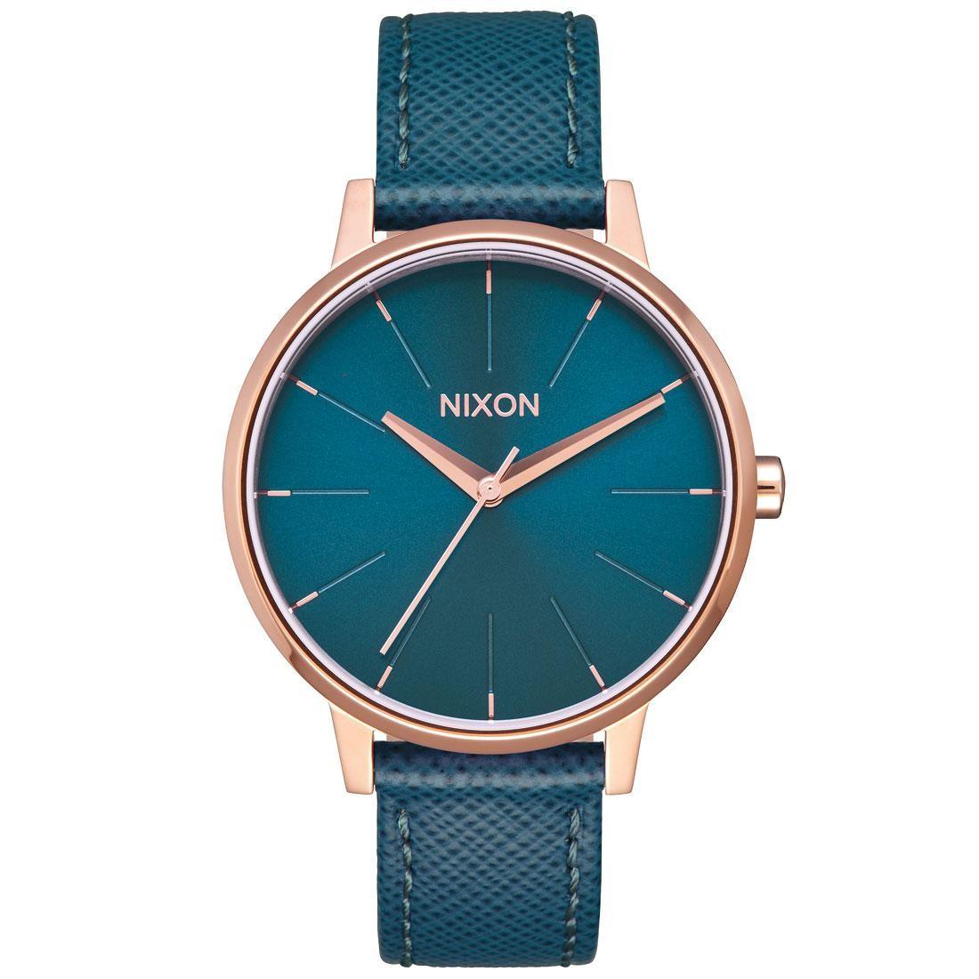 Nixon Kensington Leather Watch (gold / rose gold)