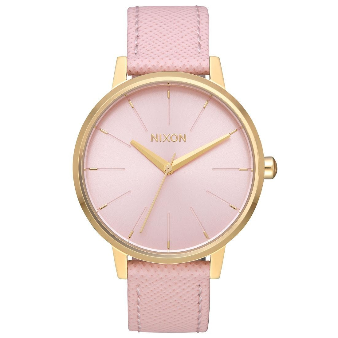 Nixon Kensington Leather Watch (gold / light / pale)