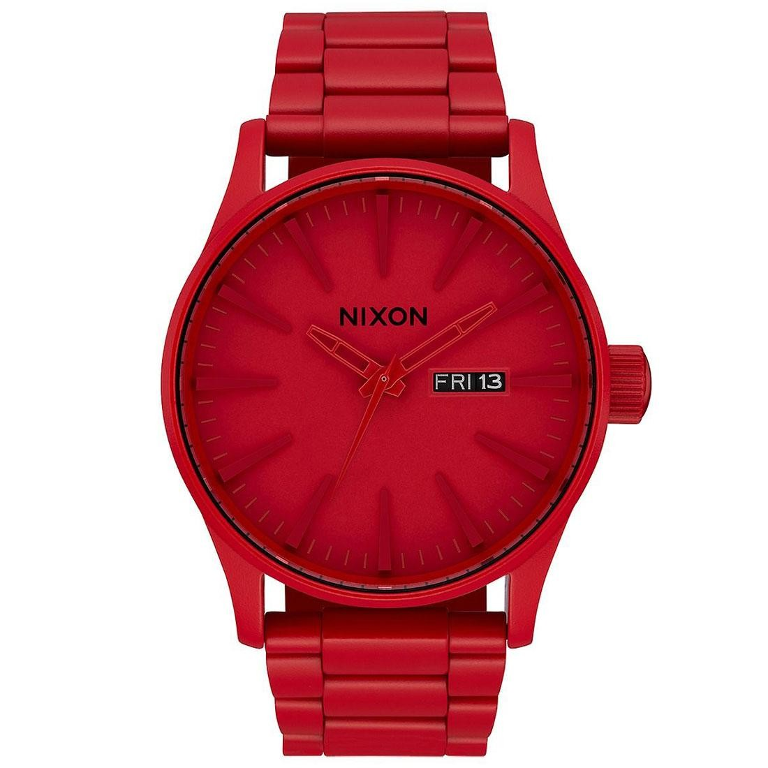 Nixon Sentry SS Watch - RED (red / all red)