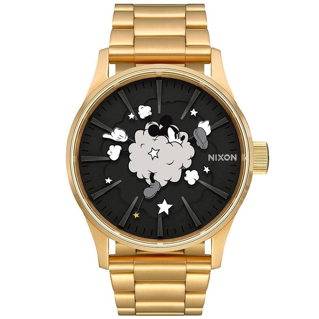 Nixon x Disney Sentry SS Gold Watch - Mickey Fight (gold / black / cloud)