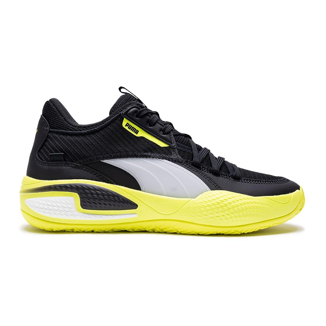 Puma Men Court Rider (black / yellow alert)
