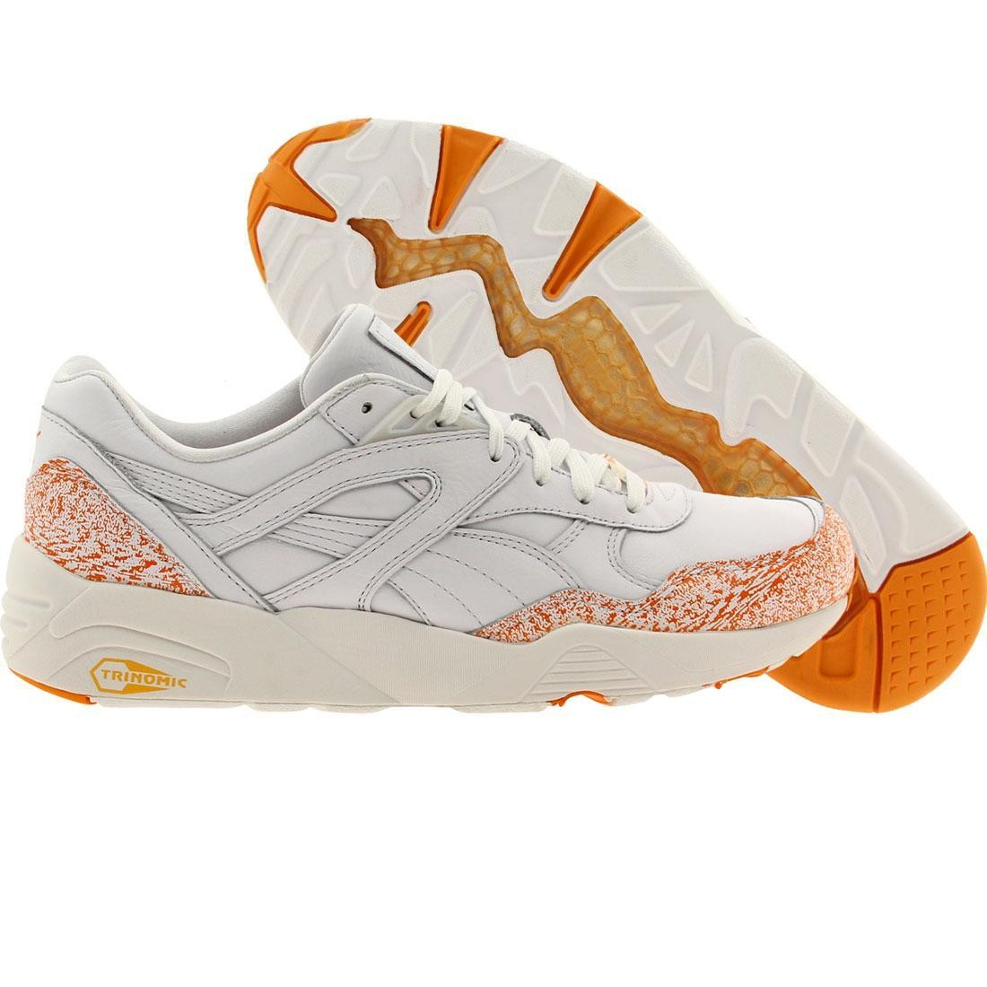 Puma Men R698 - Snow Splatter Pack (white   fluo orange) d55b32607
