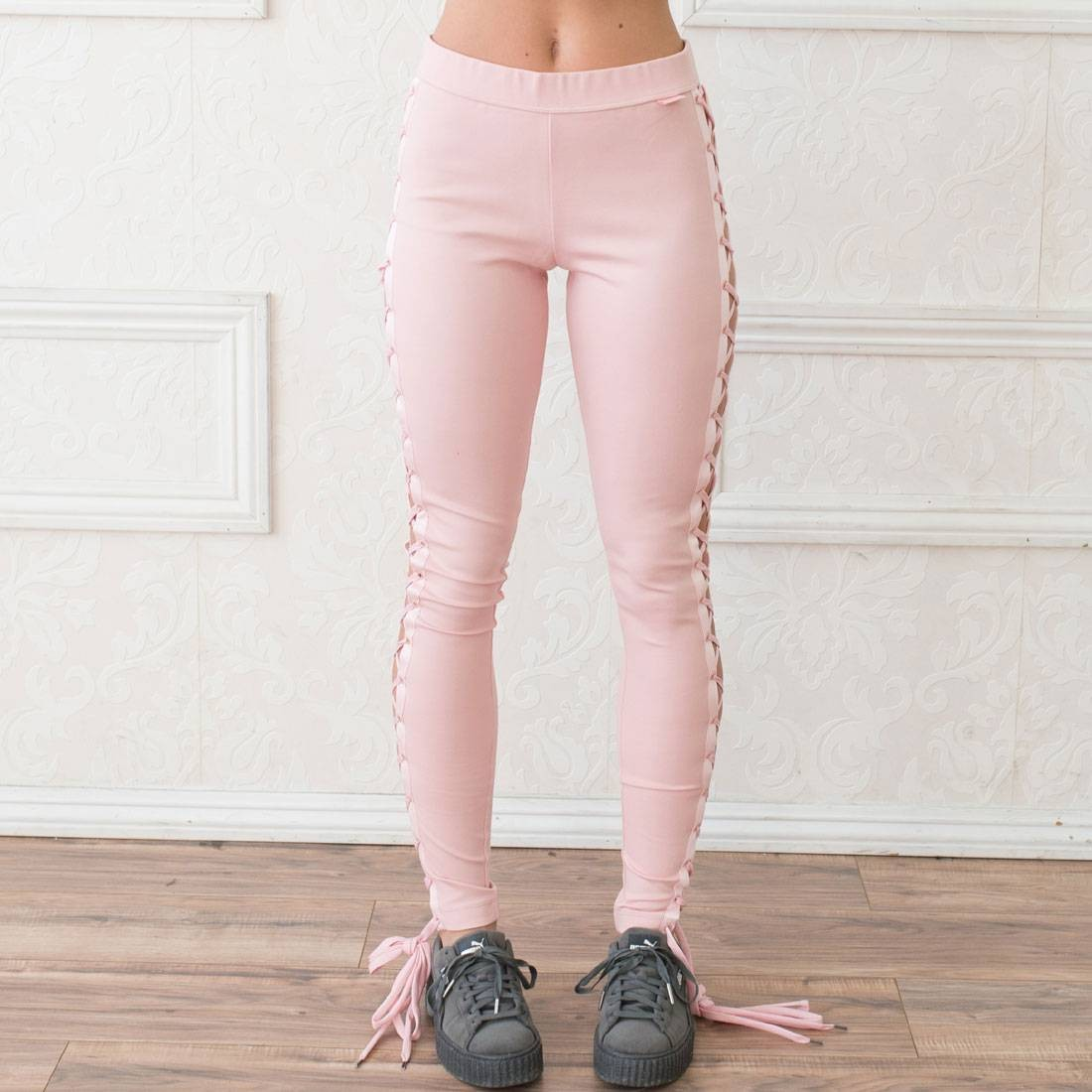 1f0588d46807 Puma x Fenty by Rihanna Women Boxing and Bomber Lacing Tights pink