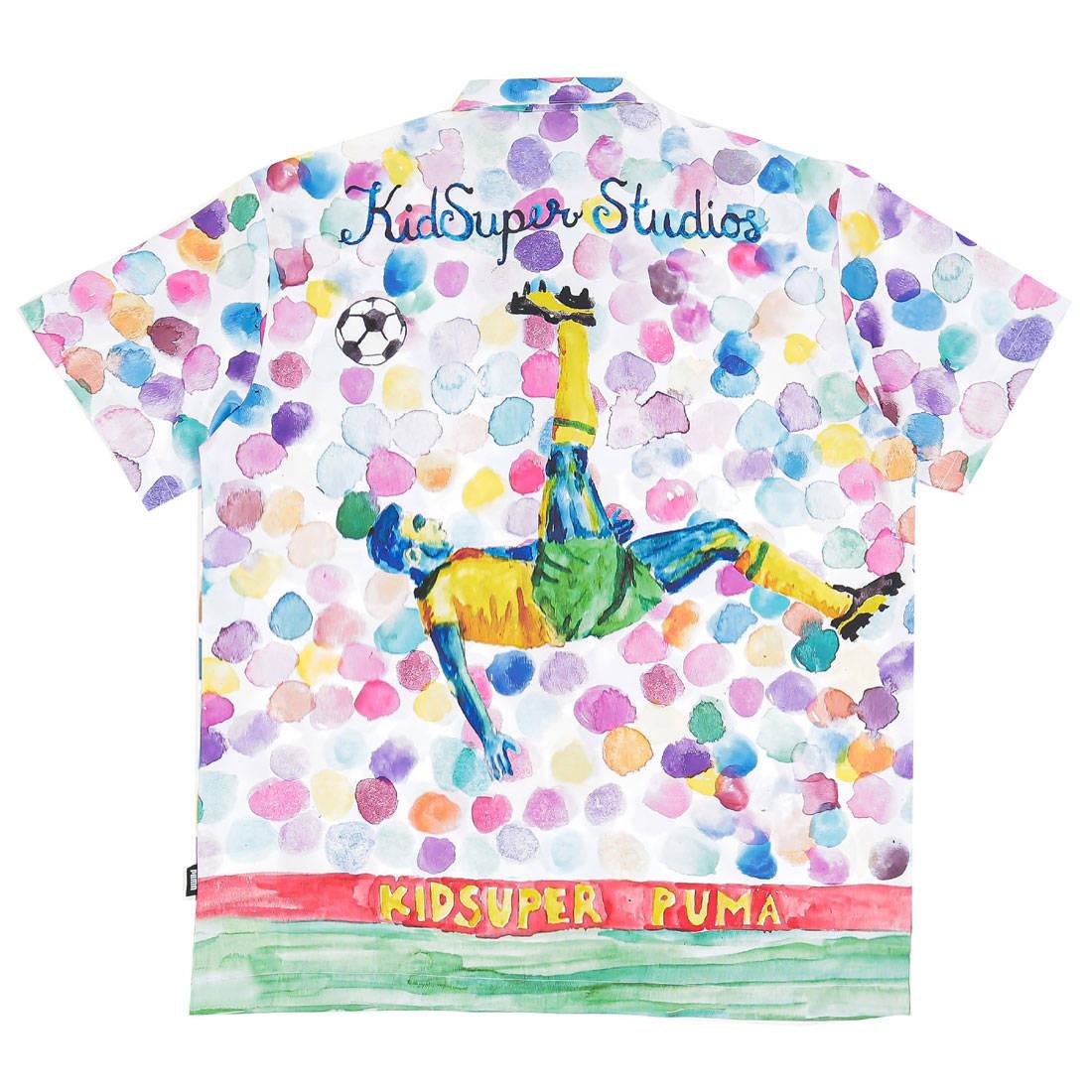 Puma x Kid Super Men All Over Print Short Sleeve Shirt (white)