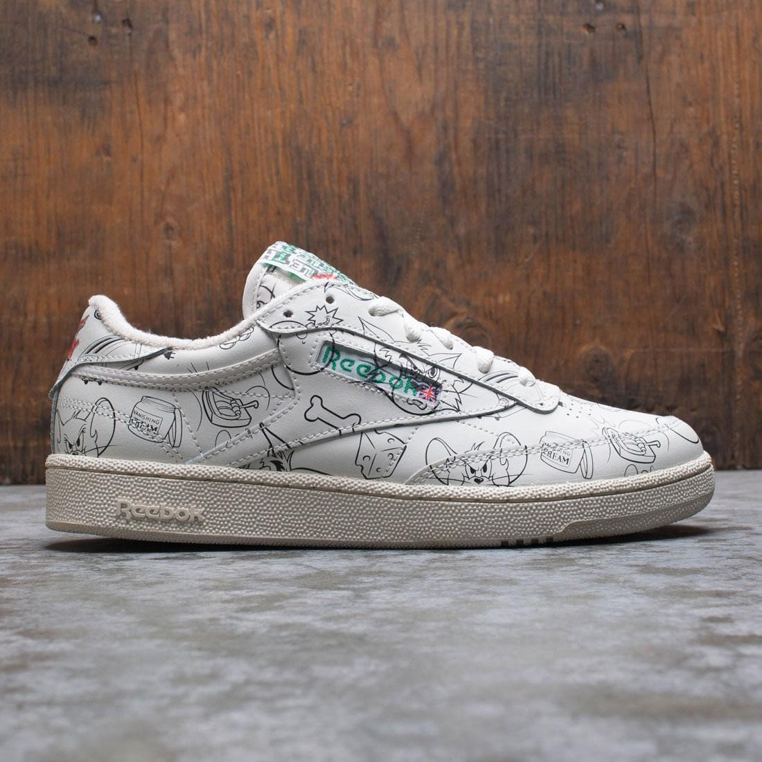 Reebok x Tom And Jerry Men Club C 85 (white / chalk / paper white / excellent red)