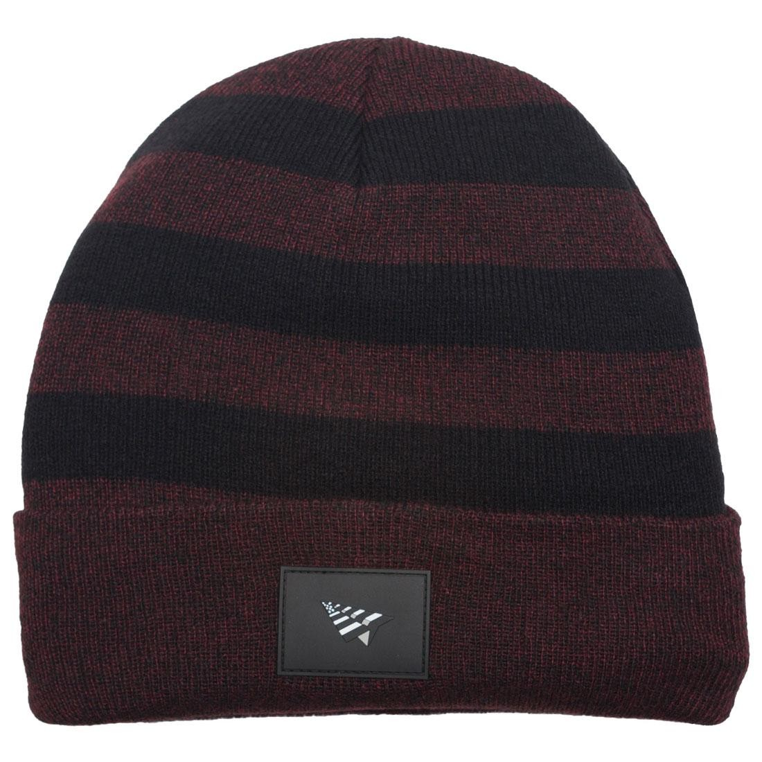 Paper Planes Patch Skully Beanie (burgundy / port royale)