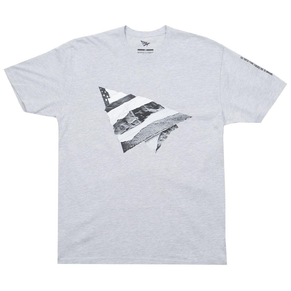 Paper Planes Men Rip and Repair Tee (gray / heather)