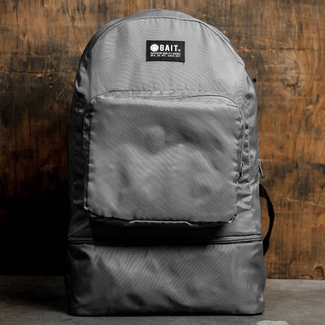 BAIT Lightweight Packable And Detachable Sneaker Nylon Backpack (gray)