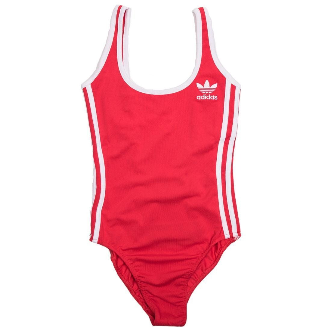 adidas bodysuit red