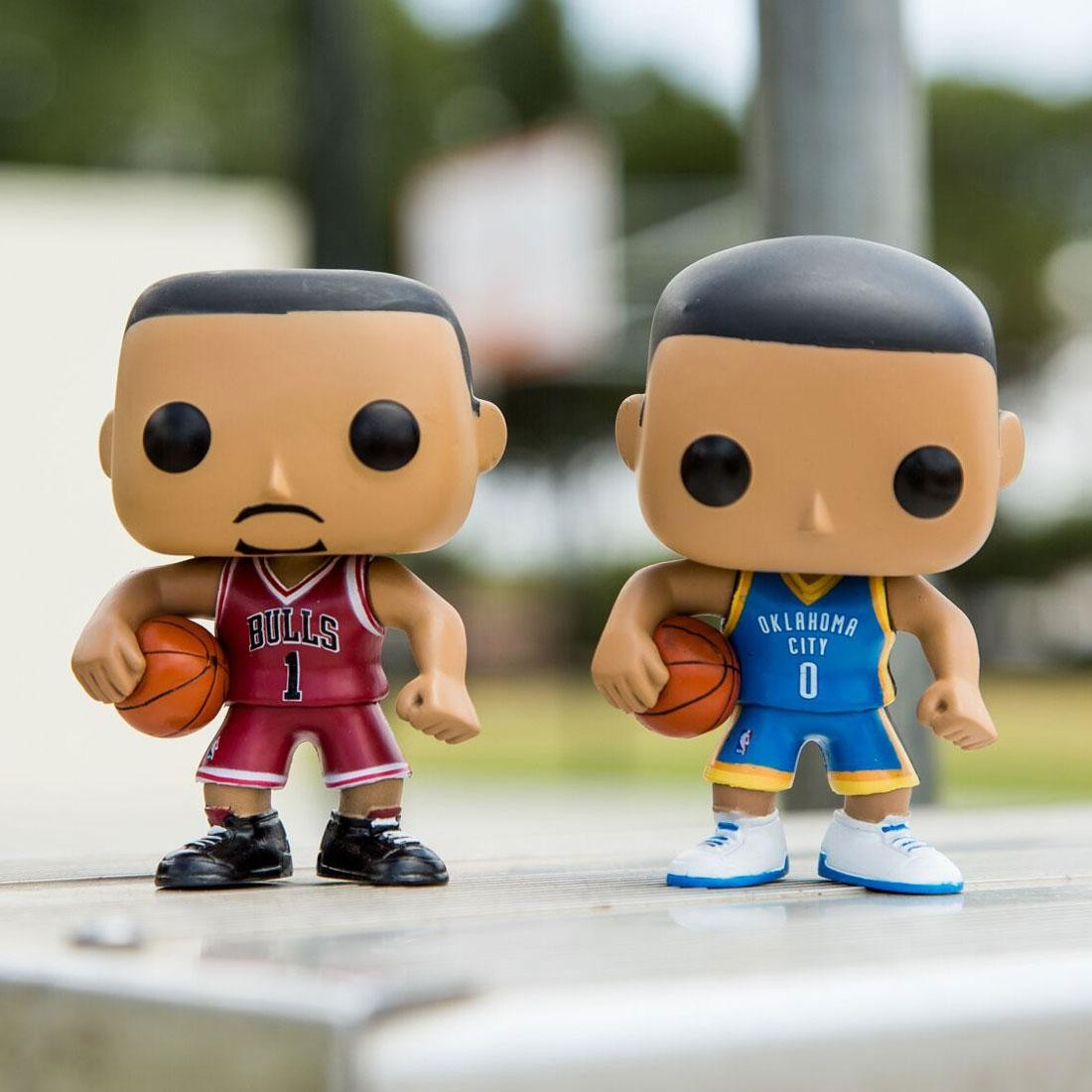 BAIT x Funko POP Convention Exclusive 2 Pack Derrick Rose x Russell Westbrook (red / blue)