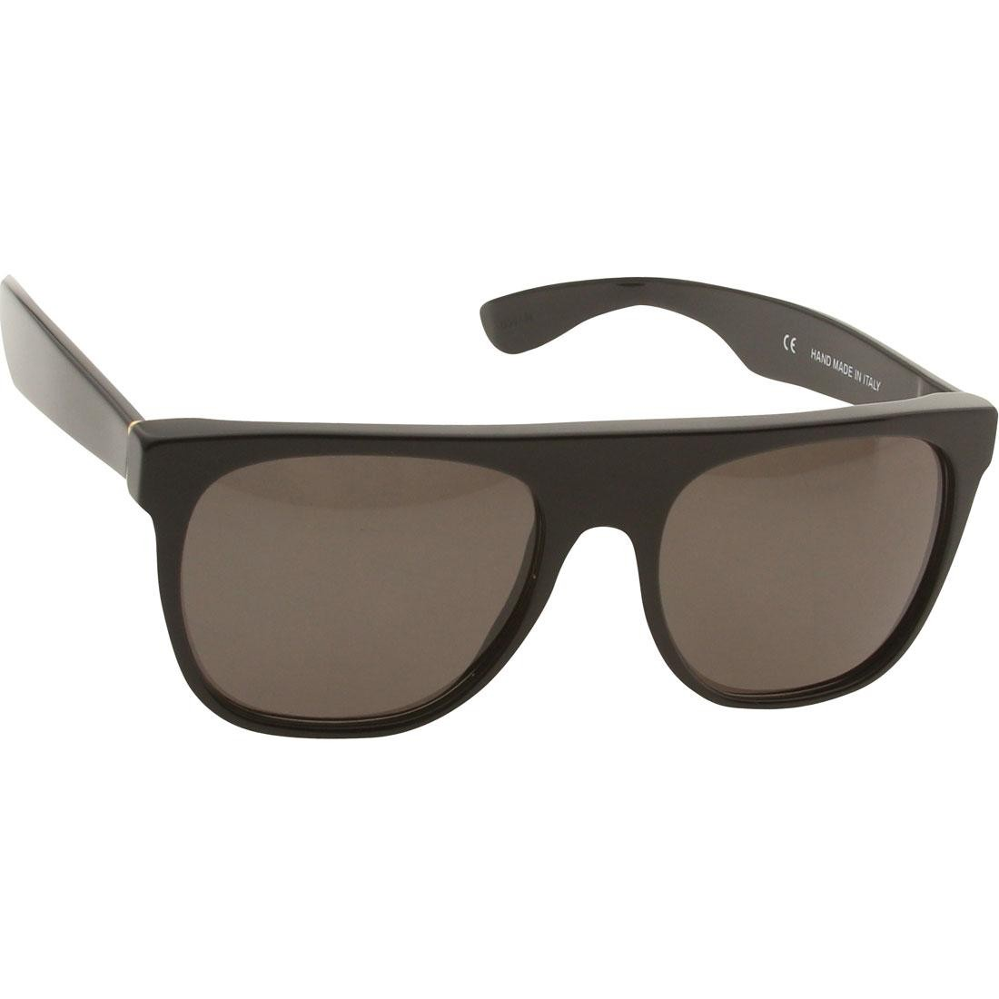 Super Sunglasses Flat Top (black)