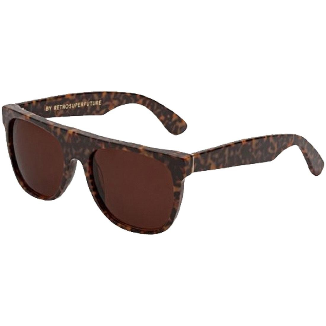 Super Sunglasses Flat Top Sunglasses (brown / havana)
