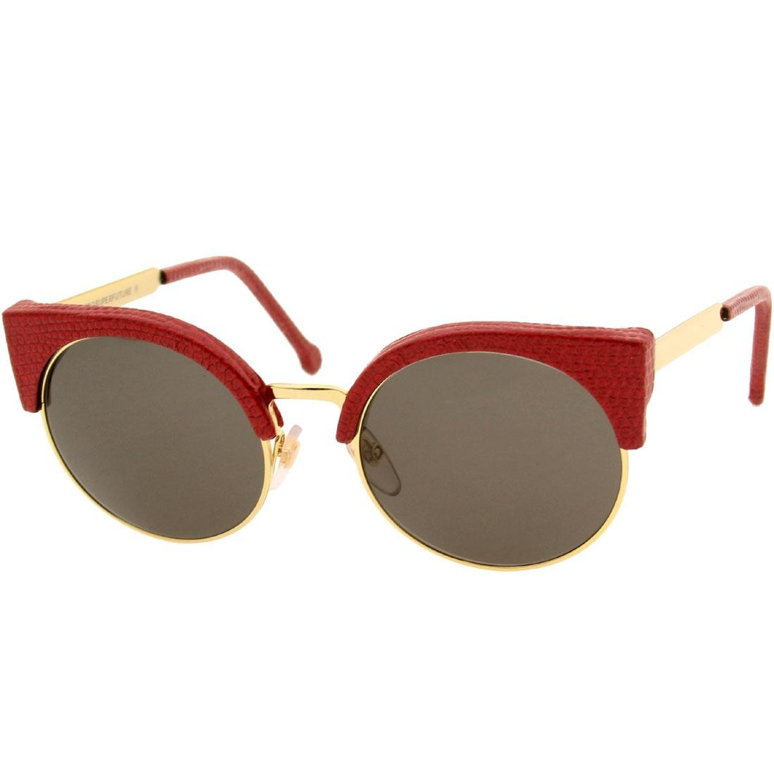 Super Sunglasses Lucia (red / lizard)